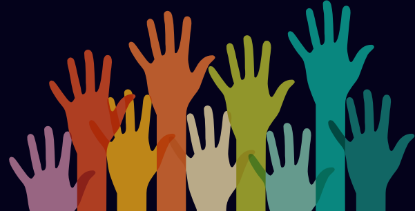 Coloured hands logo