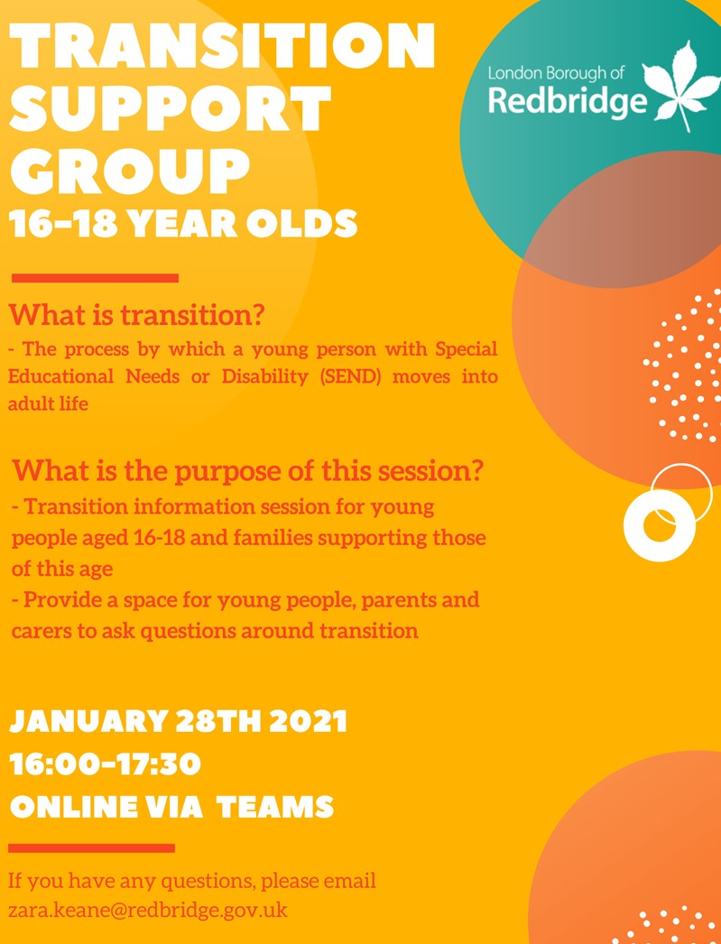 Transition Support Group for 16-18 year olds with SEND